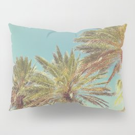 Retro Summer Palm Trees Pillow Sham