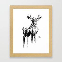 Needles & Antlers Framed Art Print