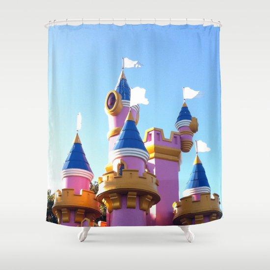 Where's Princess Peach? Shower Curtain
