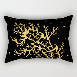 bent gold tree Rectangular Pillow