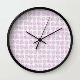 Roses pattern IV Wall Clock