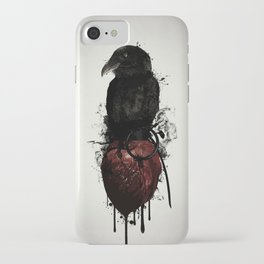 Raven and Heart Grenade iPhone Case