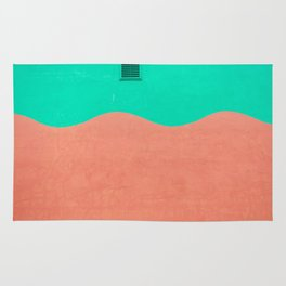 Coral and Seafoam Rug