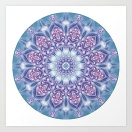 Blue, Purple, and Pink Mandala Art Print