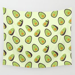 Happy Avocados Wall Tapestry