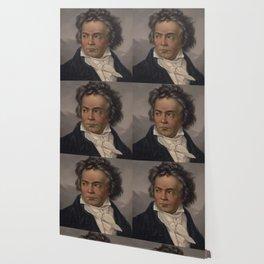 Vintage Portrait of Ludwig van Beethoven (1870) Wallpaper
