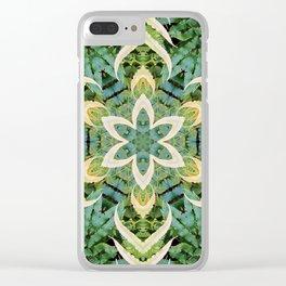 Foliage Leaves and Fern Mandala Clear iPhone Case