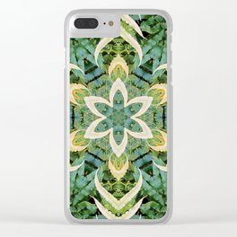 Foliage Leaves and Fern Mandala Clear iPhone Case