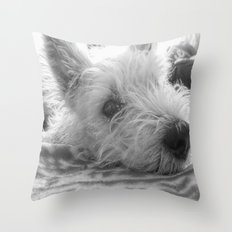 Westie puppy Throw Pillow