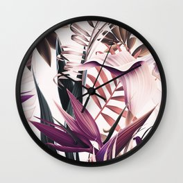 Magenta tropical Wall Clock