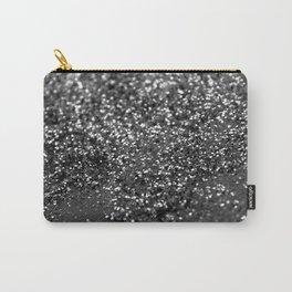 Gray Black Night Glitter #1 #shiny #decor #art #society6 Carry-All Pouch