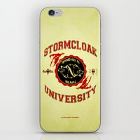 skyrim iPhone & iPod Skins featuring Stormcloak University(Skyrim) by Chubbybuddhist