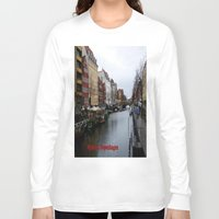copenhagen Long Sleeve T-shirts featuring Nyhavn, Copenhagen  by Created by Eleni