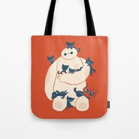 kittens Tote Bags featuring Kittens! by Jay Fleck