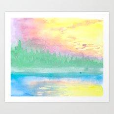 Abstract Landscape V Art Print