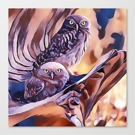 A Pair of Owls Canvas Print