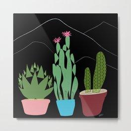 Contemporary Cacti Vector Art Metal Print