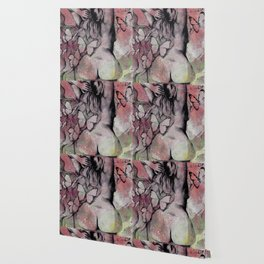Sugar Coated Sour: Pomegranate (nude curvy pin up with butterflies) Wallpaper