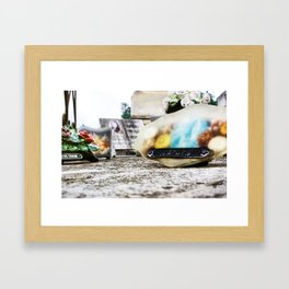 At The Blessed Cave I Pray For You Framed Art Print