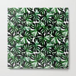 Monstera Jungle Leaf Metal Print