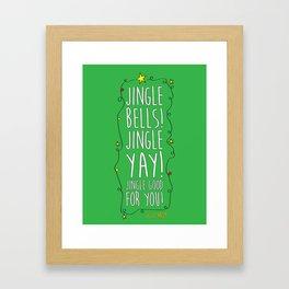 Jingle Yay Framed Art Print