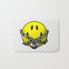 Quit Your Grinning / 3D chained up smiley Bath Mat