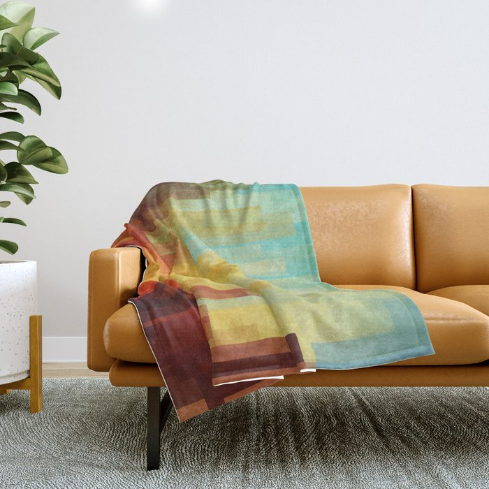 Urban sunset Throw Blanket