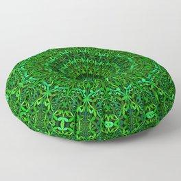 Green Spiritual Mandala Garden Floor Pillow