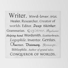 Writer Throw Blanket