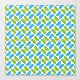 HALF-CIRCLES, GREEN AND BLUE Canvas Print