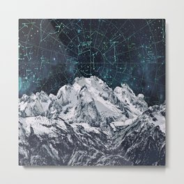 Constellations over the Mountain Metal Print