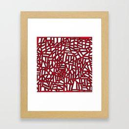 Landforms - StoneRoses Red Framed Art Print
