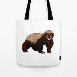 Honey badger illustration Tote Bag
