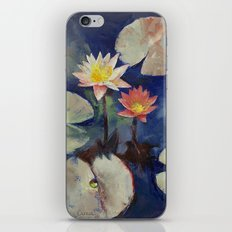 Water Lily Painting iPhone & iPod Skin
