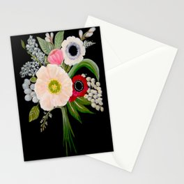 Spring Bouquet on Slate Stationery Cards