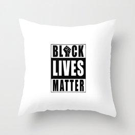 BLM - Distressed Black Lives Matter Throw Pillow