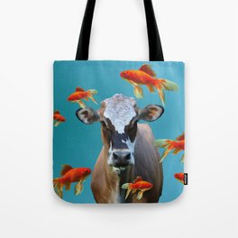 Goldfishes with Costa Rica Cow Tote Bag