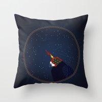 falcon Throw Pillows featuring Falcon by Urška Hočevar