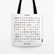 POKEMON : THE BEST GENERATION Tote Bag
