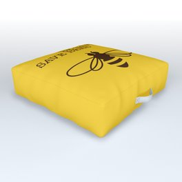 Be safe - save bees Outdoor Floor Cushion