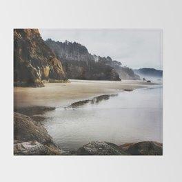 Hug Point Landscape On Oregon Coast Throw Blanket