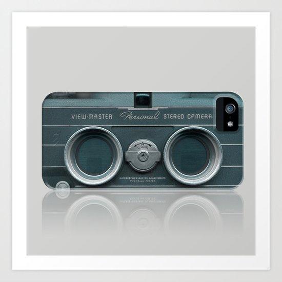 Camera Vintage Stereo  Art Print