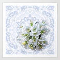 pretty bouganvillea on delicate kaleidoscope Art Print