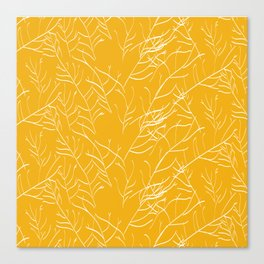 Branches in yellow Canvas Print