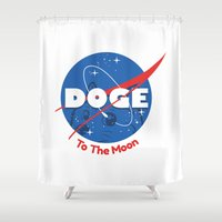 nasa Shower Curtains featuring Nasa Doge by Tabner's
