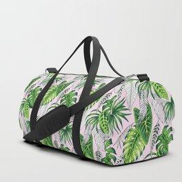 tropical marker pink pattern Duffle Bag