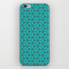 Hex Pattern 65 - Teal iPhone Skin