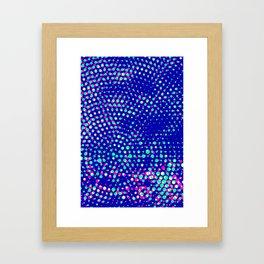 Simple blue halftone background Framed Art Print