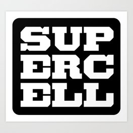 the supercell Art Print