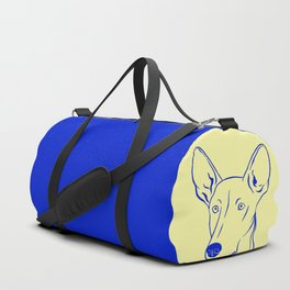 Ibizan Hound (Pale Yellow and Blue) Duffle Bag